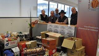 Ocho talleres catalanes recogen dos toneladas de comida para personas desfavorecidas