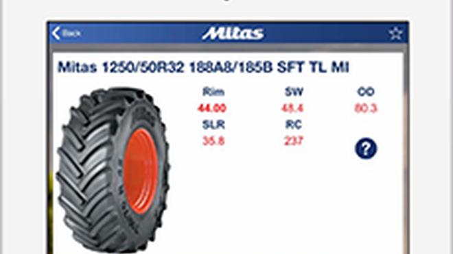 Mitas presenta una app que elige la presión adecuada para neumáticos agrícolas