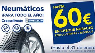 Norauto y Michelin ofrecen descuentos de hasta 60€