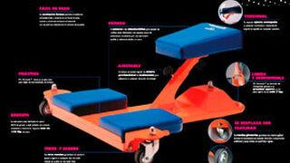 Mr. Komodo, nueva silla de rodillas de Zaphiro para talleres