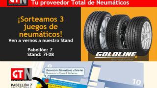Grupo Total sortea tres juegos de neumáticos en Motortec