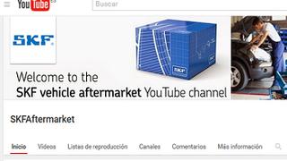 SKF ofrece vídeos técnicos de sus productos en YouTube