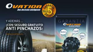 Tiresur ofrece cinco años de garantía en los neumáticos Ovation