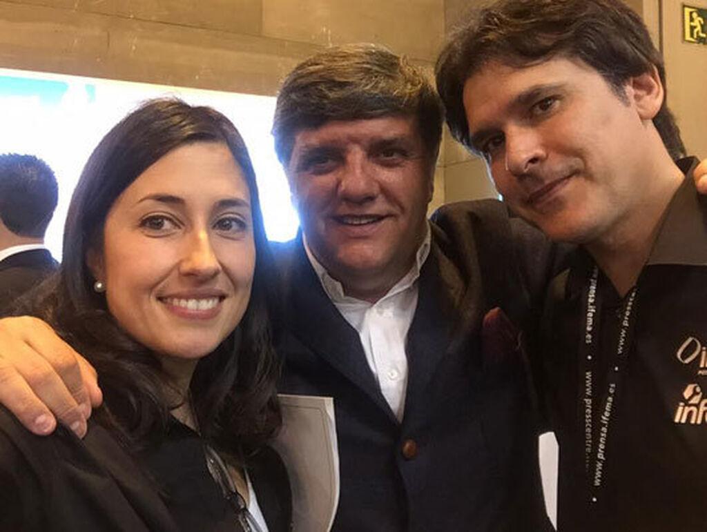 Mar Calderón, directora de Infocap; José Luis Bravo, gerente de Aser, y Carlos Azofra, editor de Infocap.