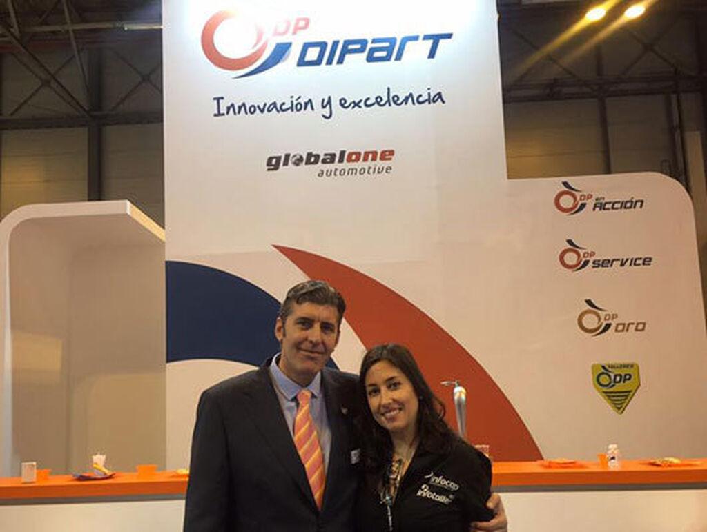 Carlos Miranda, de Dipart, con Mar Calderón.
