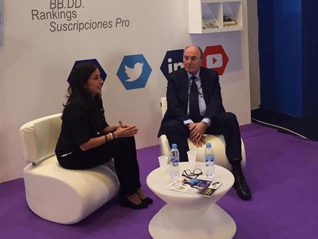 Emisión en streaming de Infotaller durante la entrevista de Mar Calderón a Josep Bosch, presidente de AD Parts.