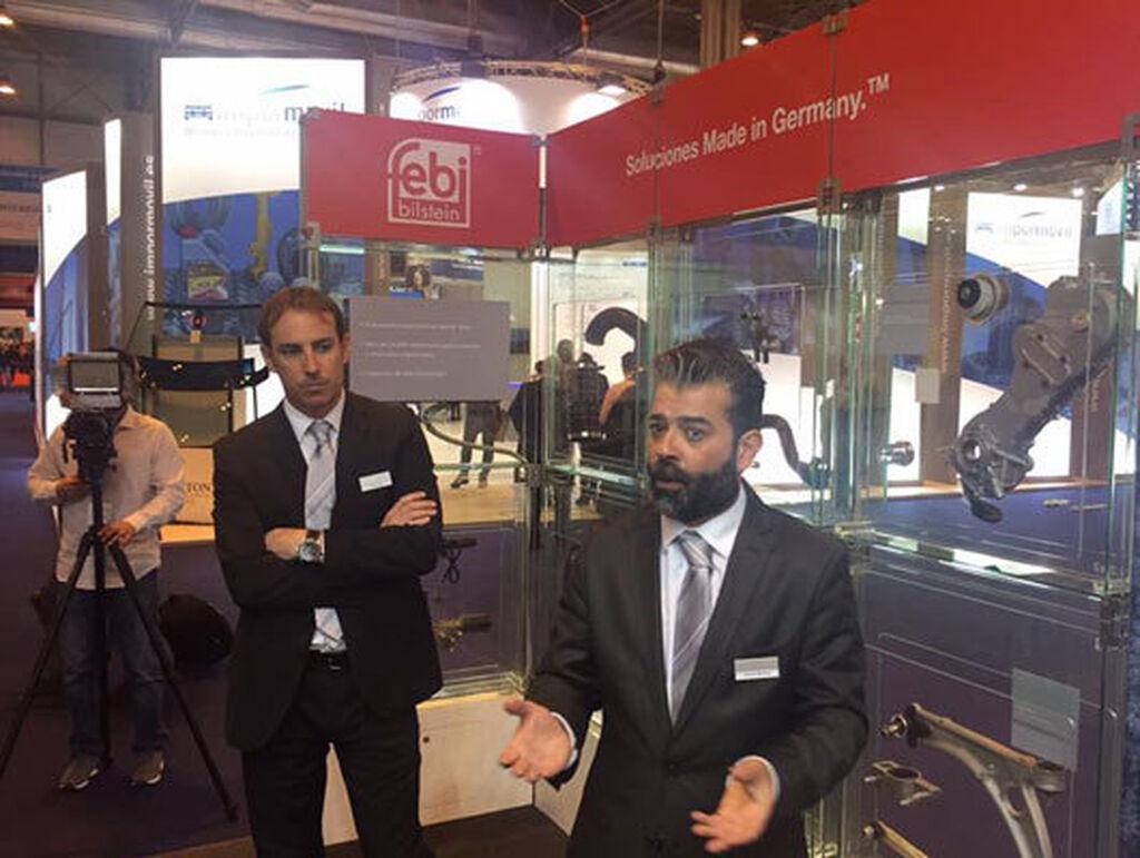 Juan Lanaja y Gerardo Martínez, de bilstein group, en la presentación a la prensa especializada.