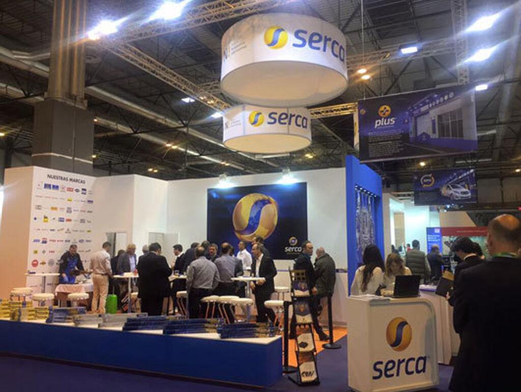 El stand de Grupo Serca Automoción en Motortec.