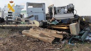 La Guardia Civil denuncia un taller ilegal de camiones en Burgos