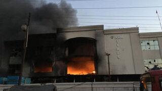 Un incendio arrasa la fábrica de KRM Tyres