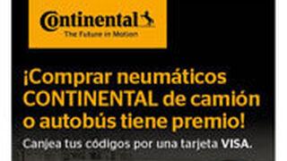 Continental regala tarjetas Visa al comprar neumáticos de camión