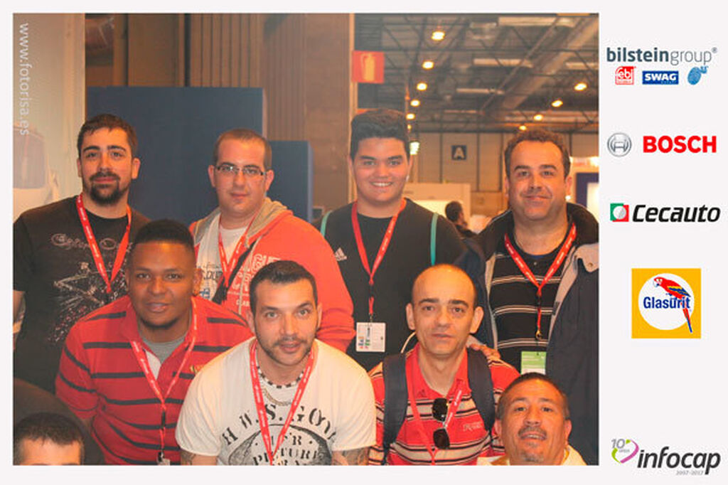 Fotomatón Infocap 10º aniversario en Motortec 2017