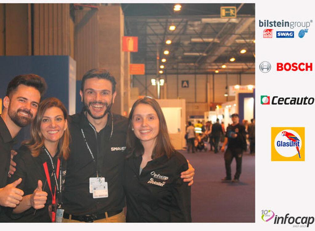 F, Sandra Gómez, Giuseppe lonis y Gemma Aliste, de Infocap / InfotallerTv