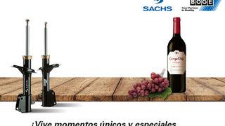 ZF regala una botella de vino por la compra de amortiguadores Sachs o Boge