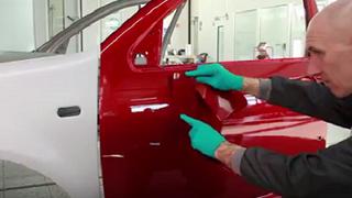 R-M forma en el repintado automotriz con Soul Red Crystal para Mazda