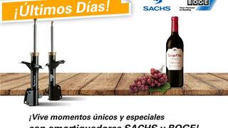 ZF regala una botella de vino por la compra de dos amortiguadores Sachs o Boge