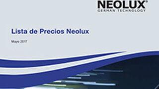 Neolux edita su nuevo catálogo de precios 2017