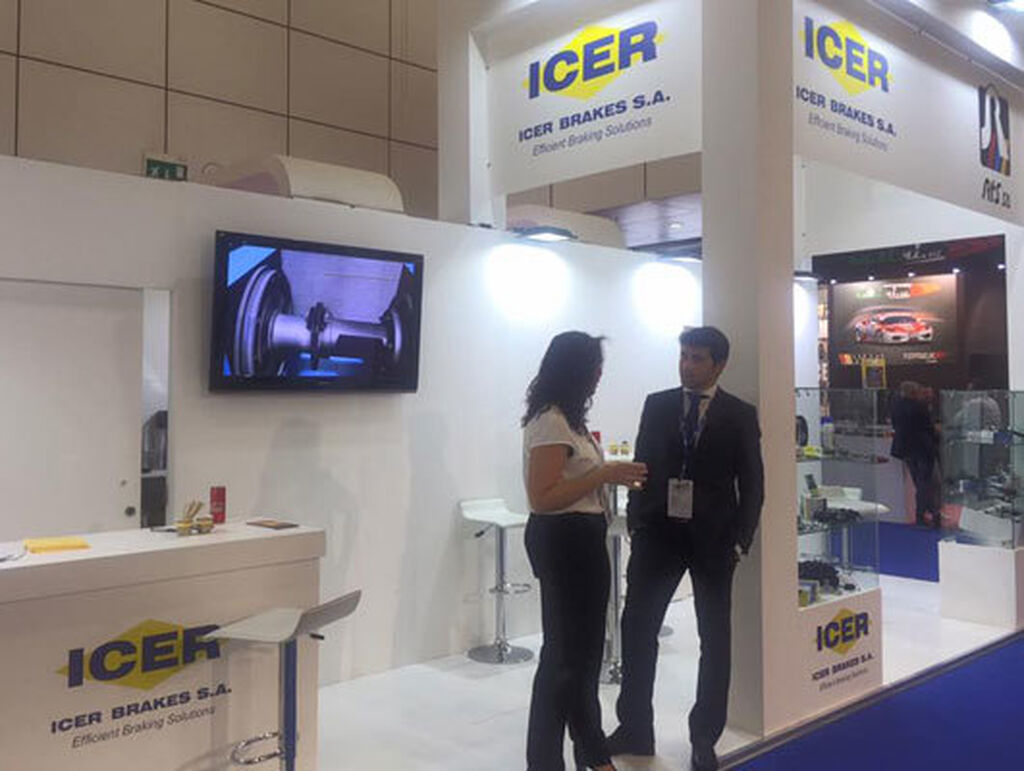 Icer Brakes y RTS compartieron stand.