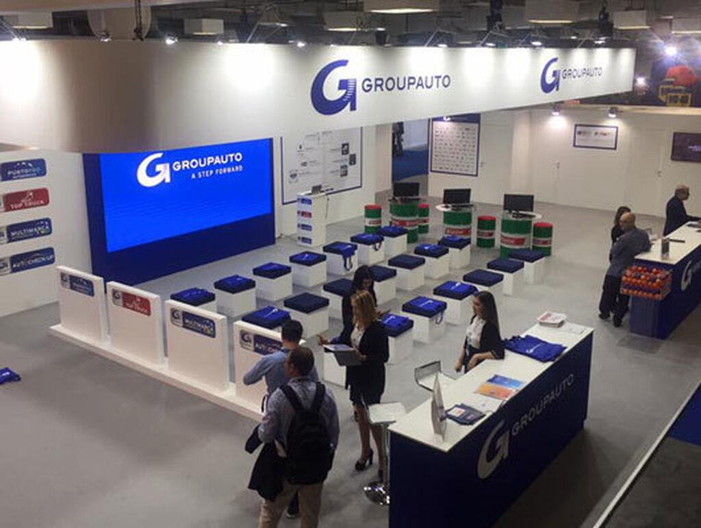 El stand de Groupauto, uno de los más grandes de la feria.