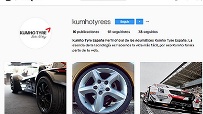 Kumho Tyre da el salto a la red social Instagram