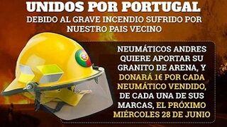 Grupo Andrés apoya a los bomberos voluntarios de Portugal