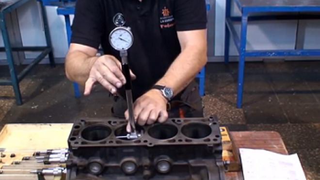 Pasos para medir el desgaste de un cilindro