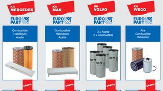 Europart promociona la compra de kits de filtros