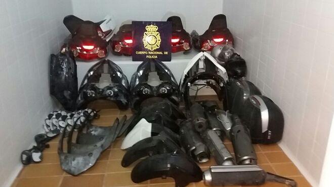 Detenidos por vender piezas robadas de vehículos por internet