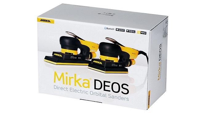Mirka presenta la nueva lijadora orbital eléctrica Deos