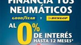 Goodyear Dunlop financia neumáticos sin intereses
