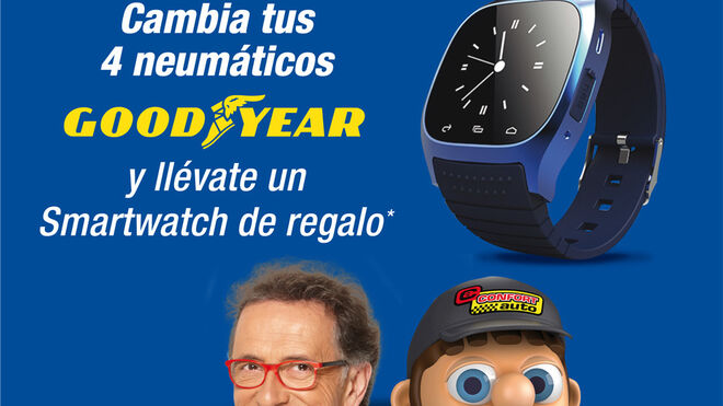 Confortauto regala smartwatches con Goodyear