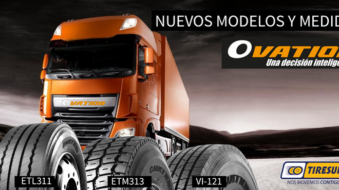 Tiresur amplía la gama de neumáticos Ovation para camión
