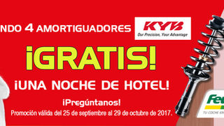 Feu Vert regala 1 noche de hotel con amortiguadores KYB