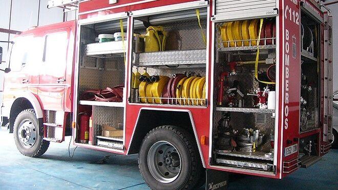Se incendia un taller de un polígono industrial de Jaén