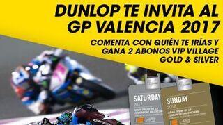 Dunlop sortea dos abonos vip para el Gran Premio Motul de Valencia