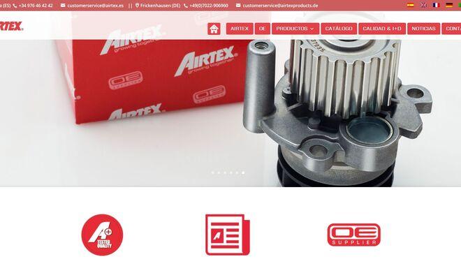 Airtex renueva su web corporativa