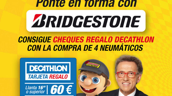 Confortauto regala hasta 60€ para Decathlon con neumáticos Bridgestone