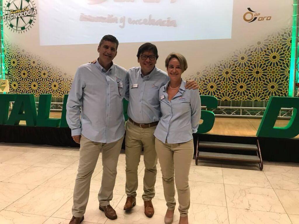 Carlos Miranda, Fernando Riesco y Susana Doliwa