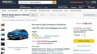 Amazon se introduce en la venta de coches nuevos en España