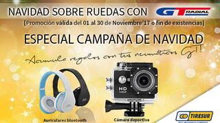 Tiresur y GT Radial regalan auriculares bluetooth y cámaras deportivas