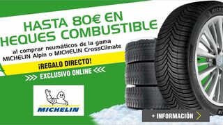 Feu Vert regala hasta 80€ en combustible con neumáticos Michelin