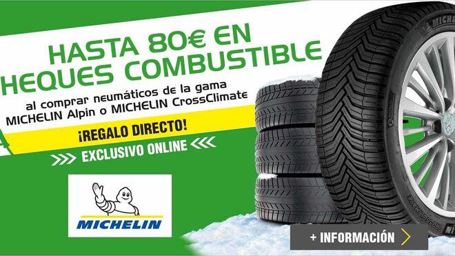 Feu Vert regala hasta 80€ en combustible con neumáticos Michelin