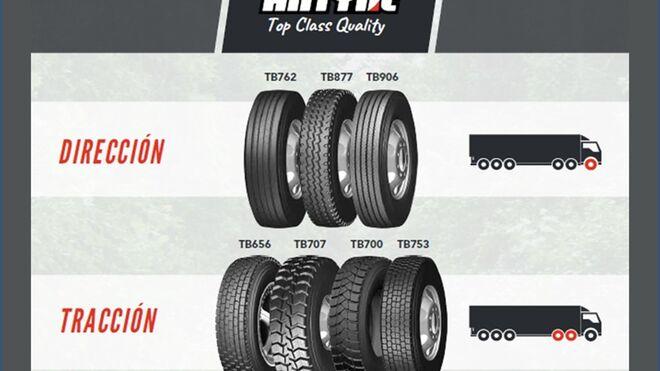 Nex distribuye en exclusiva los neumáticos Antyre para camión en España