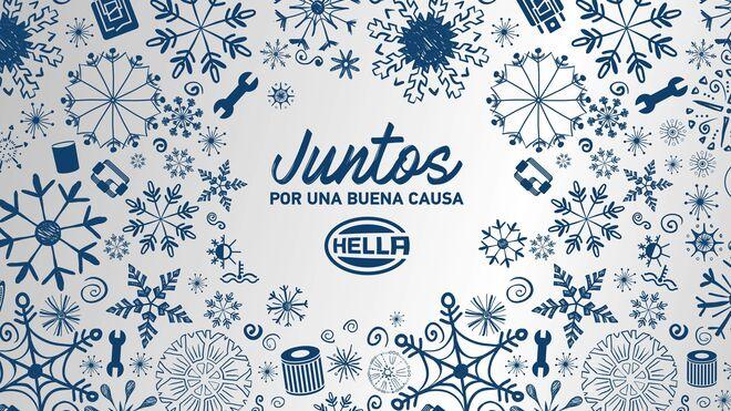 Hella recoge alimentos en su campaña solidaria de Navidad