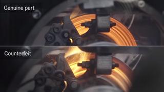 Mercedes muestra en un vídeo los riesgos de instalar frenos falsos