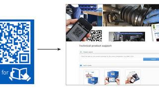 Códigos QR que acompañan a toda la gama de productos de SKF