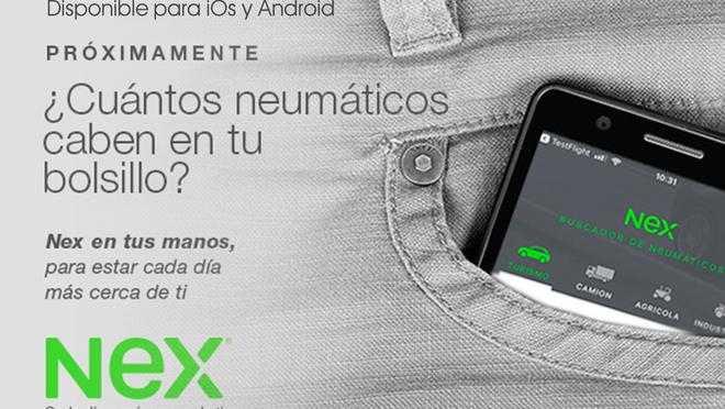 Nueva app de Nex para tener el stock de neumáticos en el 'bolsillo'