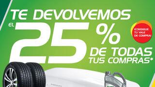Feu Vert regala el 25% del importe de las compras en centros y en la web