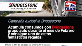 Neumáticos Soledad premia la compra Bridgestone entre profesionales