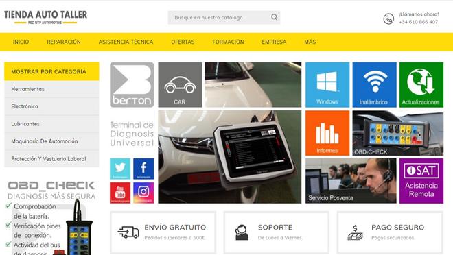 Red NTP lanza su tienda 'online' para profesionales de la automoción